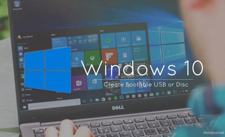 5 Methods to Create Bootable Windows 10 USB