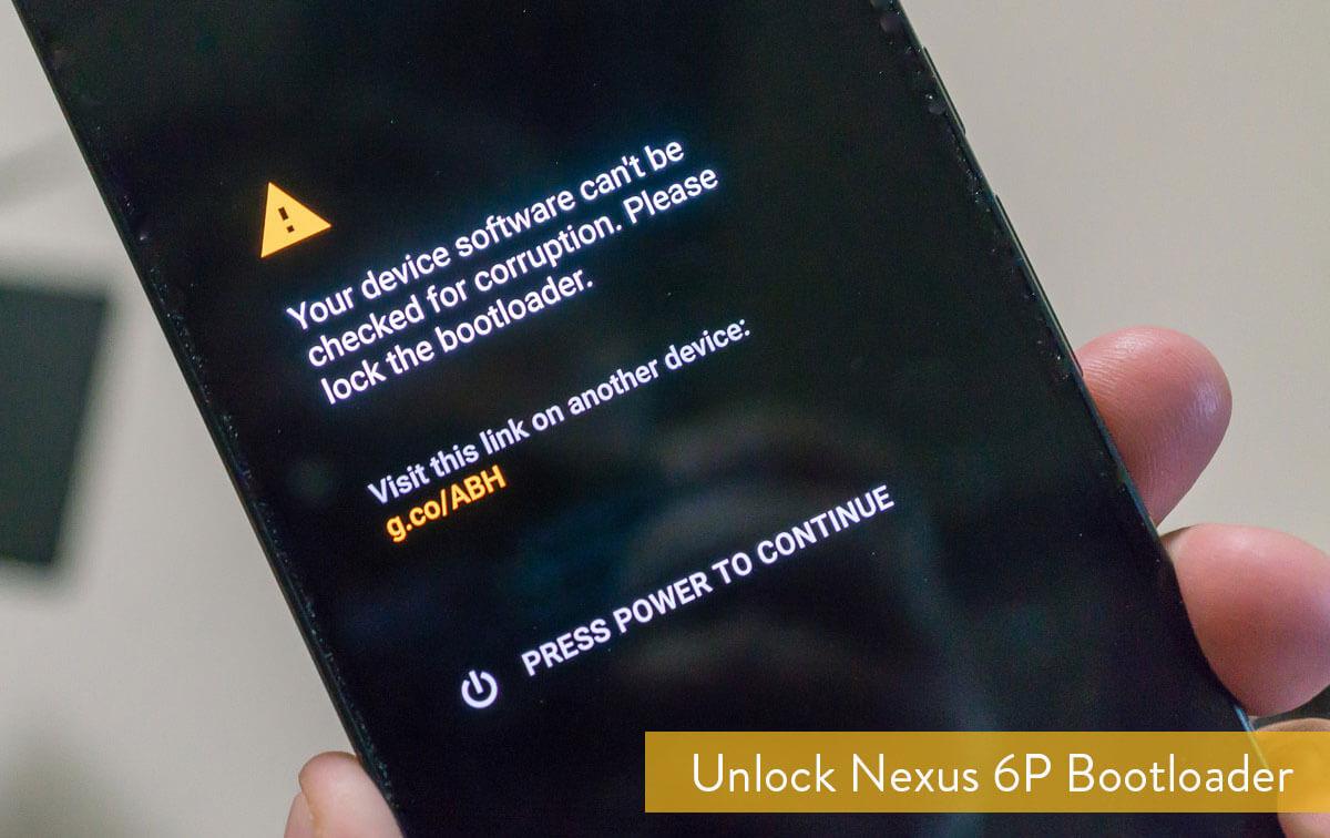 Unlock bootloader on Google Nexus 6P