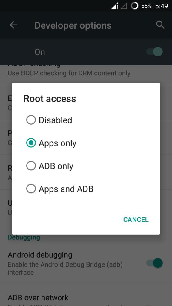 Root Access in Cyanogenmod 13 Galaxy S2