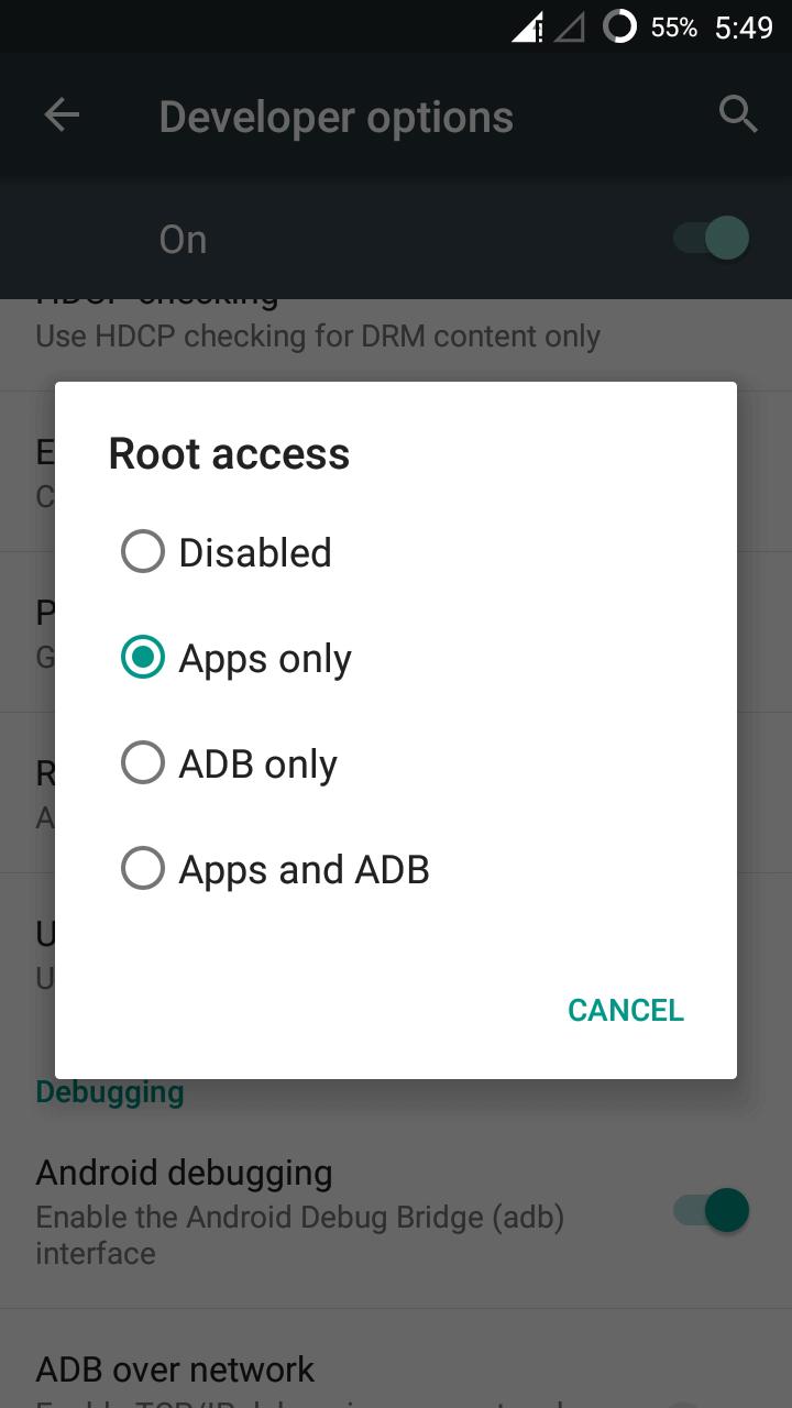 Root Access in Cyanogenmod 13