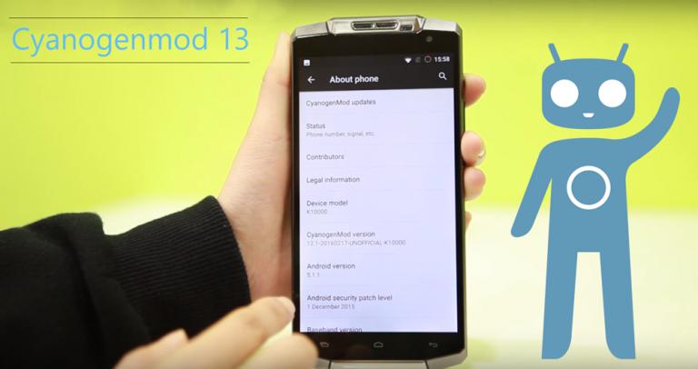 Cyanogenmod 12.1 (CM12.1) 5.1.1 for Oukitel K10000