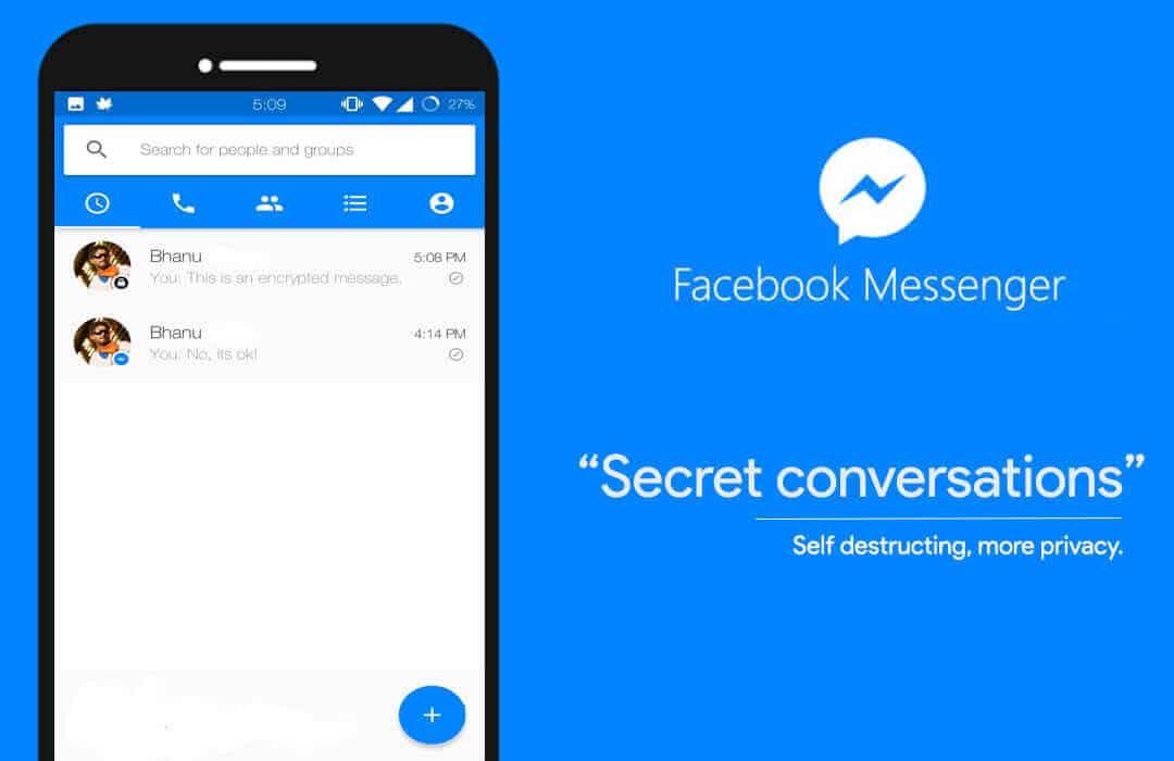 Facebook messenger Secret conversations