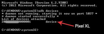 """adb devices"""