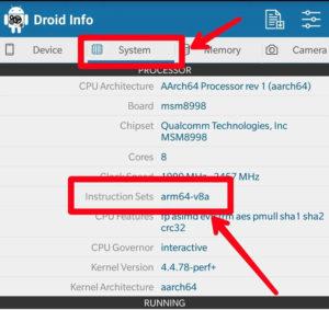 Check Device Configuration for proper APK download