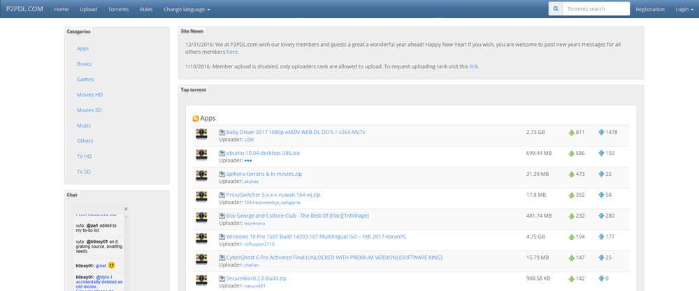 P2PDL Torrent Website