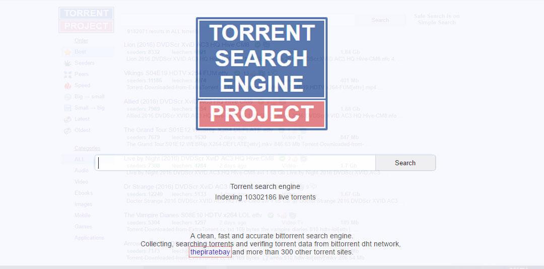 The TorrentProject - Best Torrent Websites of 2019