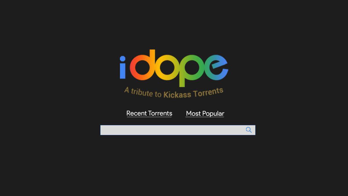 iDope Torrent website