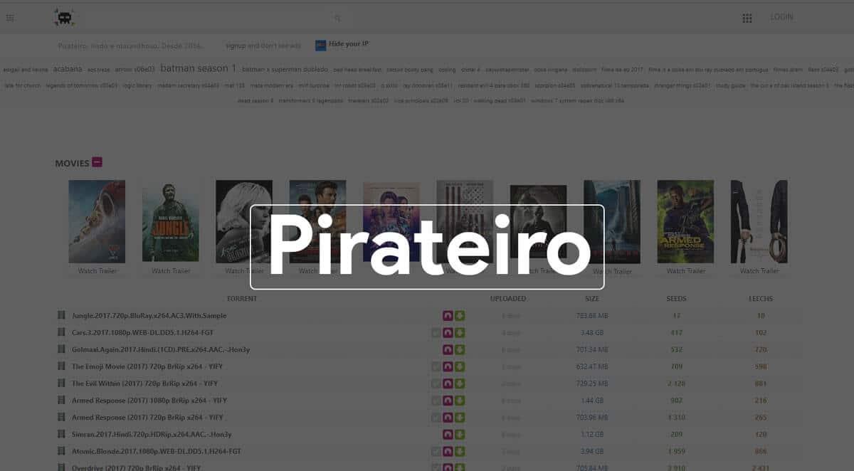 pirateiro best Torrent search Engine 2019
