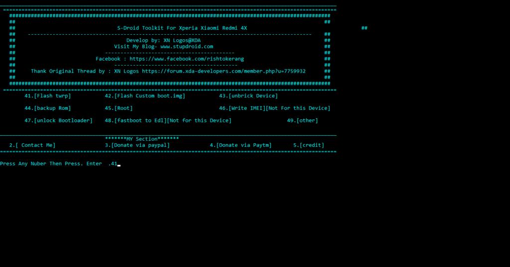 Install TWRP in Xiaomi Redmi 4 in 1 click