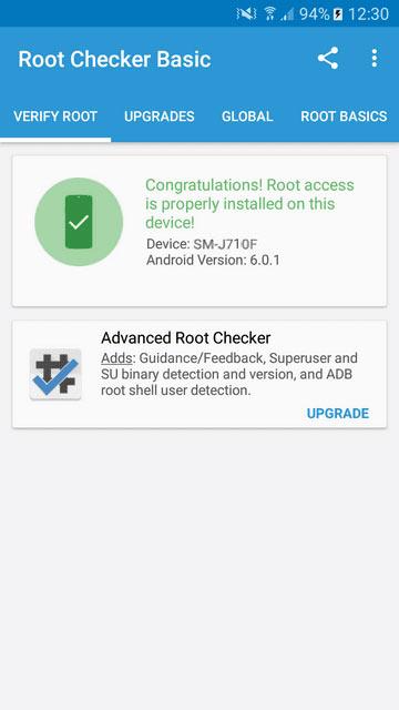 Successfully Rooted Samsung Galaxy J7 2016 SM- J710F
