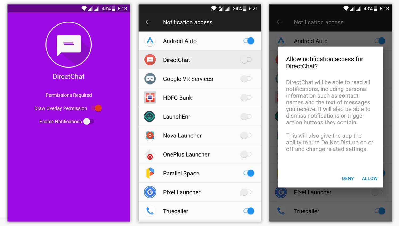 Direct Chat Create Chat Heads for WhatsApp Telegram