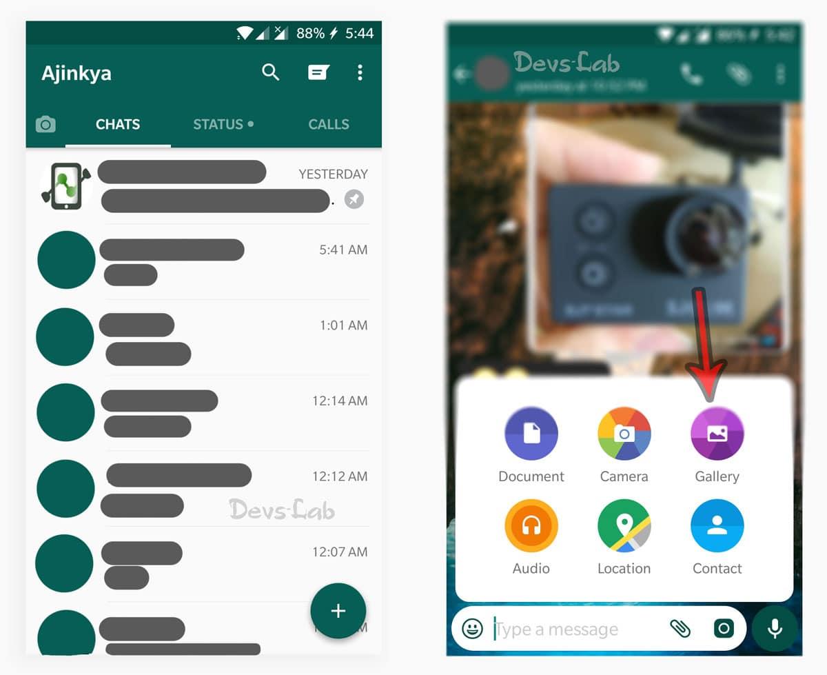 Convert videos into gifs in whatsapp