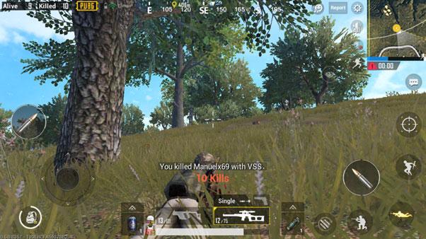 Taking a Kill in PUBG Mobile Game