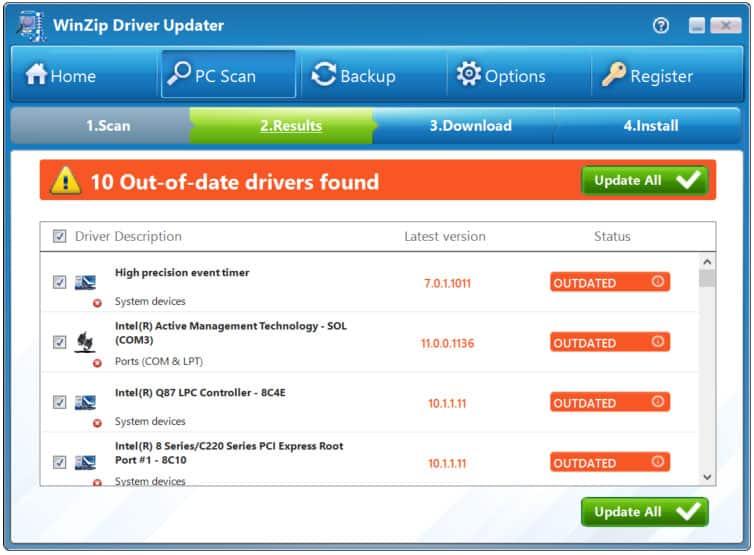 Winzip Driver updater Software