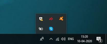 battery icon missing from taskbar