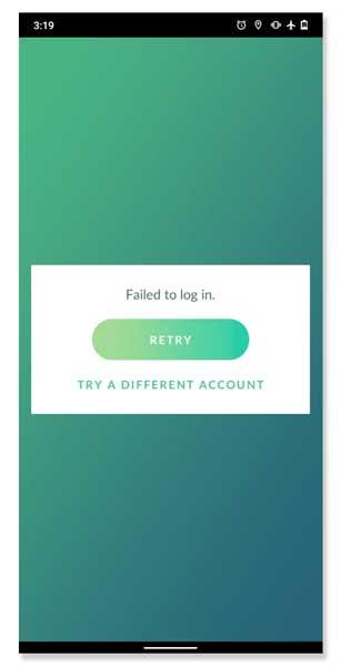 unable to authenticate pokemon go