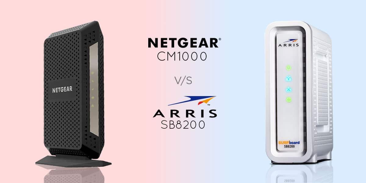 Netgear CM1000 vs Arris SB8200 - Best DOCSIS 3.1 Modem