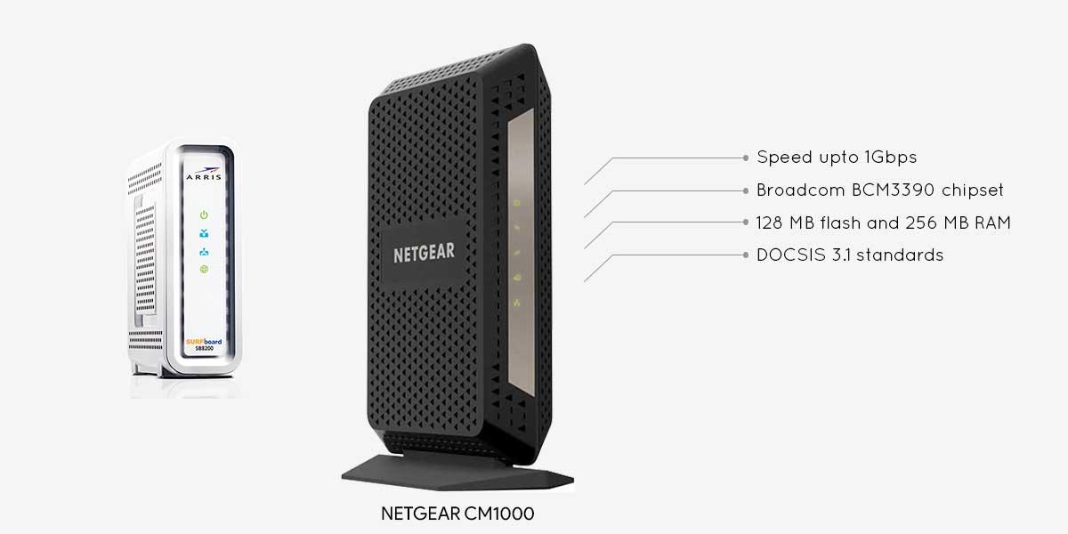 Netgear CM1000 vs Arris SB8200