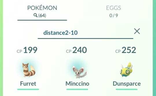 Pokemon GO Search Pokemons by Distance