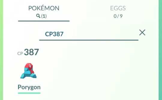 Pokemon GO Search Terms CP HP