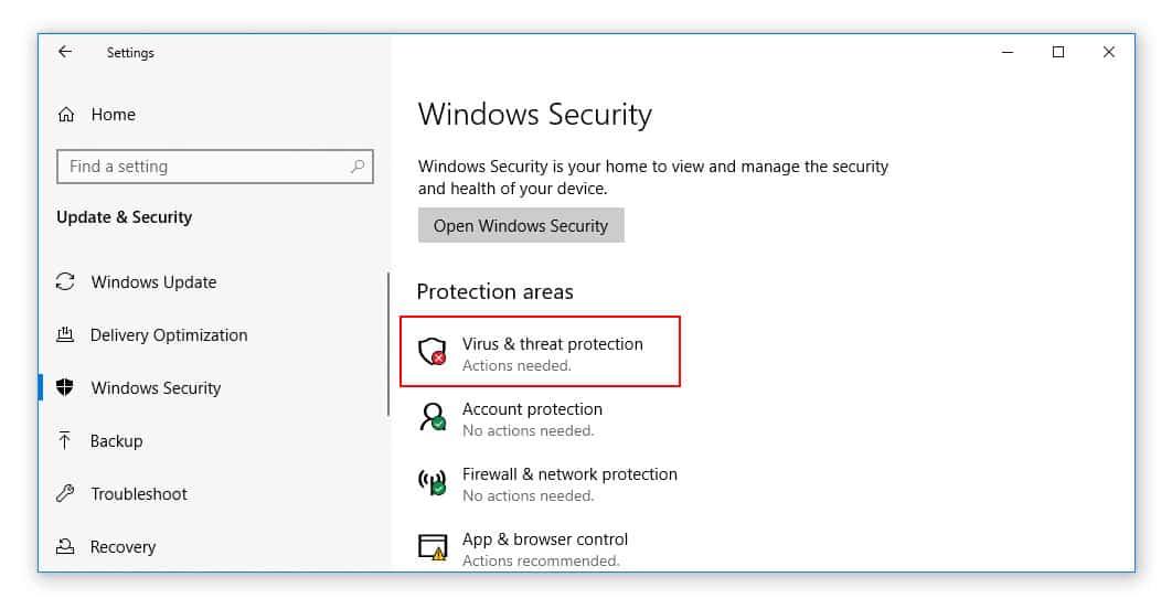 Disable Antivirus Discord Installation Failed Error