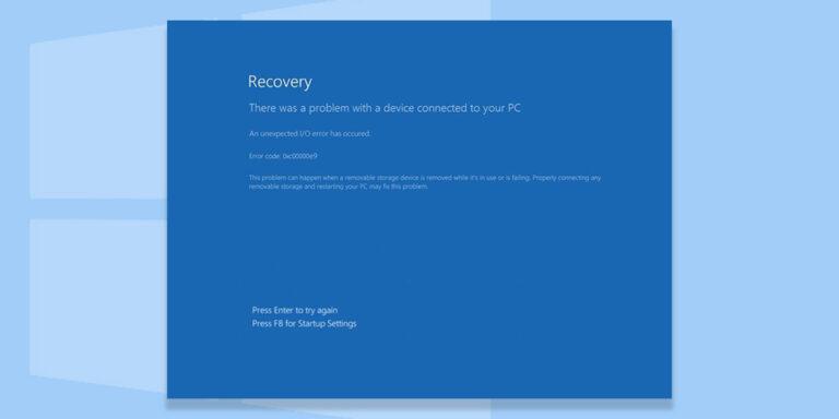 How to Fix Error Code 0XC00000E9 in Windows 10