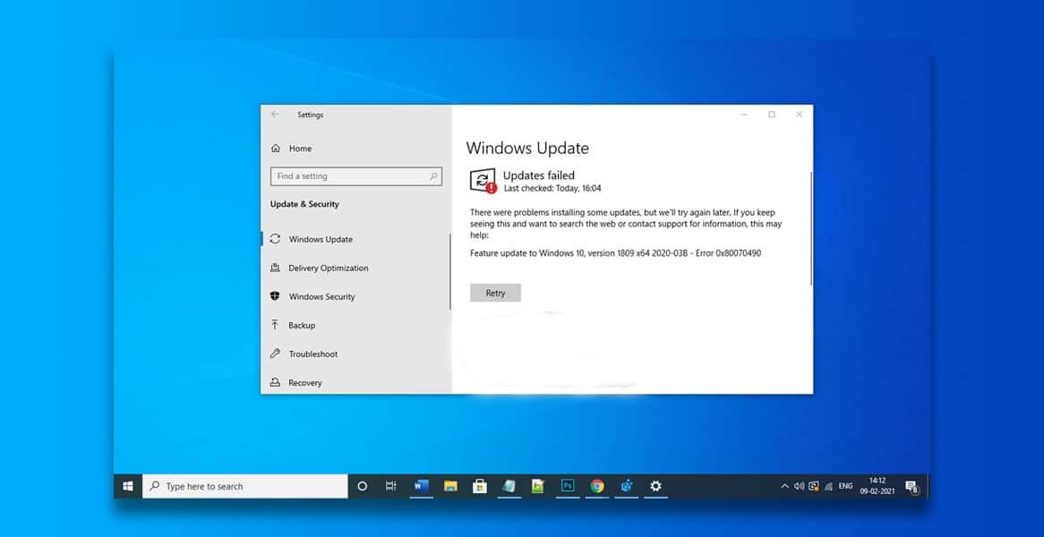 How To Fix Windows Error 0X80070490